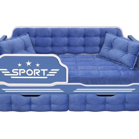 Кровать серия «Спорт» с двумя ящиками
