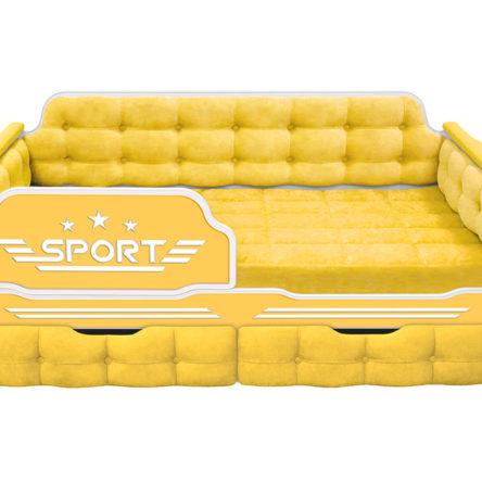 Кровать Серия «Спорт» с дополнительным спальным местом или выдвижным ящиком